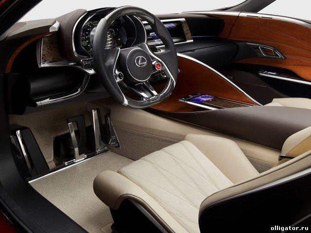 Инновационный гибрид Lexus LF-LC Blue